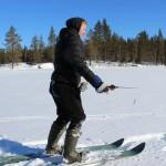 Лыжи пригодились