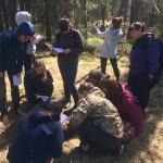Студенты на полевой практике