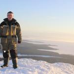 Директор НП Паанаярви Александр Бижон на вершине г.Кивакка 27.02.2018г