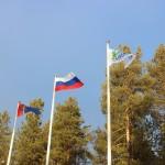 Открытие Сааамских игр. Флаги подняты