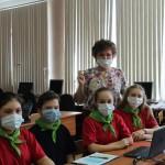 Команда Чупинской школы со своим руководителем А.А. Ильиновой